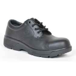 Blue Tongue Black Oxford Style Low Cut Shoe with Composite Toe, Size 7 BTGBTCC7