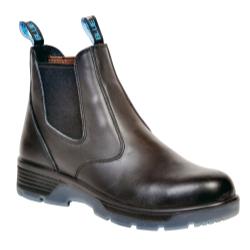"Blue Tongue Black 6"" Slip On Composite Toe Safety Boot, Size 8 BTGBTCST8"