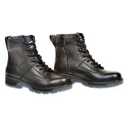 "Blue Tongue Black 6"" Lace Up Side Zipper Boot, Size 12 BTGBTP12"