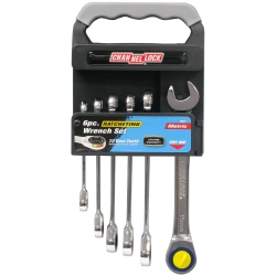 Channellock 6 Piece Metric Ratcheting Wrench Set with Storage Rack CHA38041