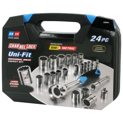 Channellock 24 Piece Uni-Fit Socket Set CHA38054