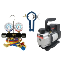 CPS Products Vacuum Pump with Manifold and Can Tap Kit CPSVP2SKIT