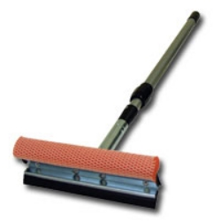 "Carrand 8"" Metal Head Squeegee with a 21"" - 36"" Extension Handle CRD9045R"