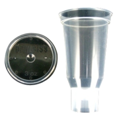 ITW Devilbliss 3 Oz. Disposable Cup and Lid (Qty 24) DEVDPC-503-K24