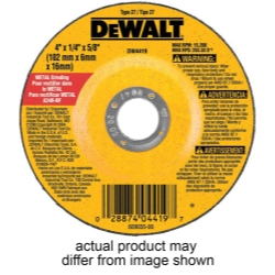 "Dewalt Tools 4-1/2"" x 1/4"" x 7/8"" High Performance Metal Grinding Wheel DWTDW4514"