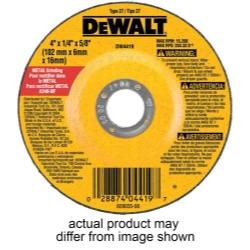 "Dewalt Tools 4-1/2"" x 1/4"" x 7/8"" High Performance Metal Grinding Wheel DWTDW4514"