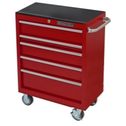 "Extreme Tools Inc 30"" 5 Drawer Roller Cabinet, Textured Red EXTEX3005RCTXRD"
