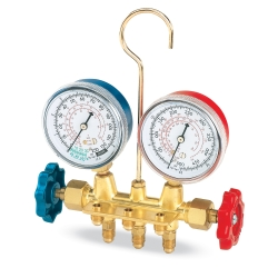 FJC Inc R12 Brass Manifold Gauge Set FJC6607