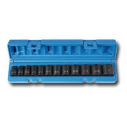 "Grey Pneumatics 12 Piece 3/8"" Drive Standard Length Fractional Impact Socket Set GRE1213"