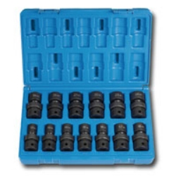 "Grey Pneumatic 1/2"" Drive 13 Piece Metric Universal Impact Socket Set GRE1313UM"