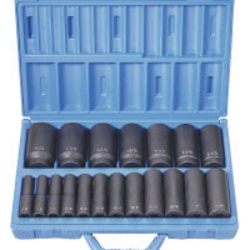 "Grey Pneumatic 1/2"" Drive 19 Piece Deep Length Fractional Master Impact Socket Set GRE1319D"