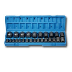 "Grey Pneumatic 26 Piece 1/2"" Drive 12 Point Metric Impact Socket Set GRE1726M"