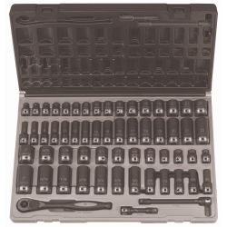 "Grey Pneumatic 3/8"" Drive 59 Piece Standard and Deep Fractional and Metric 6 Point Duo-Socket™ Set GRE81659CRD"