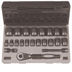 "Grey Pneumatic 1/2"" Drive 22 Piece Standard Fractional 6 Point Duo-Socket™ Set GRE82622"