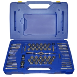 Hanson 75 Piece Tap and Die Combo Set with PTS Handle HAN1813816