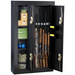 Homak 8 Gun Double Door Steel Security Cabinet / Black HOMHS30136028