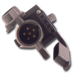 Innovative Products of America Trailer Adapter - 7 (Spade) To 6 Rounds and 4/5 Pin IPA8000