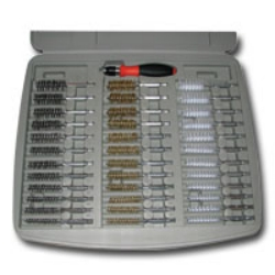 """Innovative Products of America 36 Piece Bore Brush Set with 1/4"""" Driver Handle IPA8001D"""