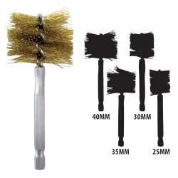 Innovative Products of America 25mm-40mm Brass Bore Brush Set IPA8038