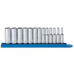 """KD Tools 13 Piece 1/4"""" Drive 6 Point Metric Mid Length Socket Set KDT80304S"""