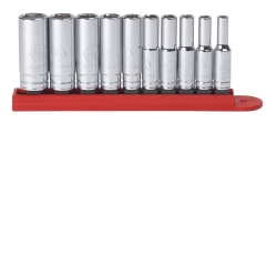"KD Tools 1/4"" Drive 10 Piece 6 Point Deep SAE Socket Set KDT80305"