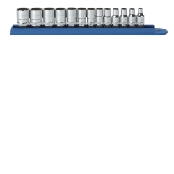 "KD Tools 1/4"" Drive 13 Piece 12 Point Standard Metric Socket Set KDT80306"