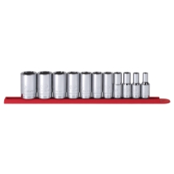 "KD Tools 11 Piece 3/8"" Drive 6 Point SAE Mid Length Socket Set KDT80555S"
