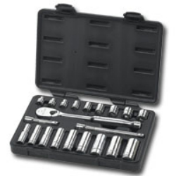 """KD Tools 3/8"""" Drive 21 Piece SAE 6 and 12 Point Socket Set KDT80557"""