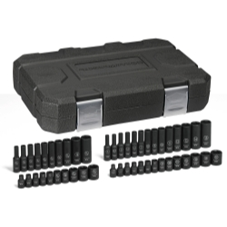 """KD Tools 48 Piece 1/4"""" Drive 6 Point SAE/Metric Standard and Deep Impact Socket Set KDT84902"""