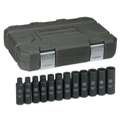 "KD Tools 1/2"" Drive 12 Piece 6 Point Metric Deep Impact Socket Set KDT84944"