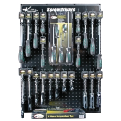 K Tool International Screwdriver Display Board KTI0809