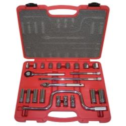"K Tool International 3/8"" Drive 23 Piece Chrome Socket Set KTI22023"