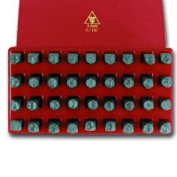 K Tool International Letters and Numbers Metal Stamp with Case KTI73400