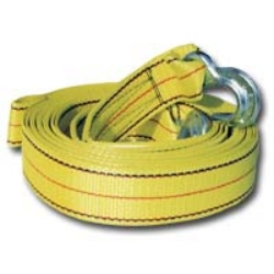 "K Tool International 1-3/4"" X 25' 10,000 lb. Capacity Tow Strap With Forged Hooks KTI73803"