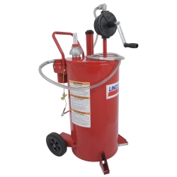 Lincoln 3677 25 Gallon Fuel Caddy with 2 Way Filter System LIN3677