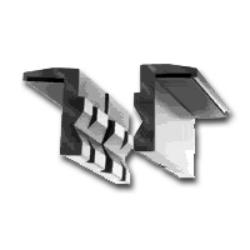 Lisle Aluminum Vise Jaw Pads LIS48000