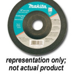 "Makita 4-1/2"" 5 Pack 24 Grit Grinding Wheel MAK741423-0"