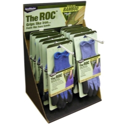 MAGID The ROC™ Latex Coated Palm, Bamboo Shell Glove Counter Top Display MGLCNTRBAM2