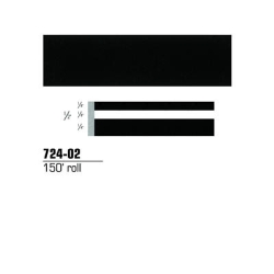 "3M™ Scotchcal™ Striping Tape, Black, 1/2"" x 150' MMM724-02"
