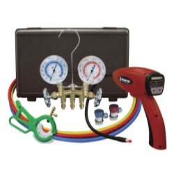 Mastercool Electronic Leak Detector with Brass Gauge Set MSC55100-R-KIT