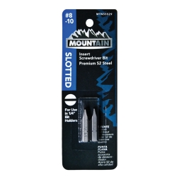 Mountain No. 8-10 Slotted Insert Bit 2pk MTN55529