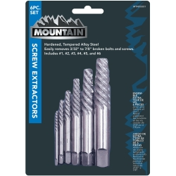Mountain 6 Piece Spiral Extractor Set MTN55551