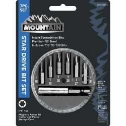 Mountain 7 Piece Star Drive Bit Set MTN55554