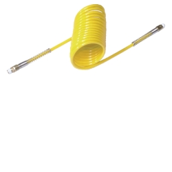 "Mountain 1/4"" x 25' Yellow Nylon Recoil Hose Plus Tails MTN91009407"