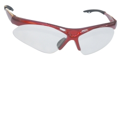 SAS Safety Diamondback Safety Glasses with Red Frame and Clear Lens in a Polybag SAS540-0000