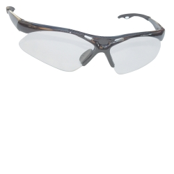 SAS Safety Diamondback Safety Glasses with Silver Frame and Clear Lens in a Polybag SAS540-0100