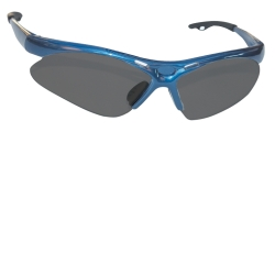 SAS Safety Diamondback Safety Glasses with Blue Frame and Shade Lens in a Polybag SAS540-0301