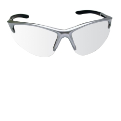 SAS Safety DB2 Safety Glasses with Clear Lenses and Silver Frames in Polybag SAS540-0500
