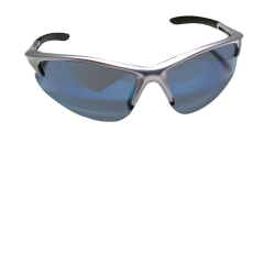 SAS Safety DB2 Safety Glasses with Ice Blue Lens and Silver Frames in Clamshell Packaging SAS540-0519