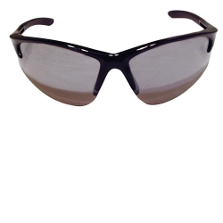 SAS Safety DB2 Safety Glasses with Mirror Lens and Black Frames in Polybag SAS540-0603